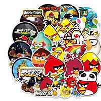 Sticker 100 miếng hình dán Angry Bird - hàng nhập khẩu