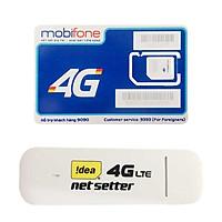 USB 4G Huawei E3372 | Dcom 4G cho tốc độ lướt web chóng mặt + Sim 4G Mobifone Khuyến Mãi 60GB /Tháng  - Hàng Nhập Khẩu