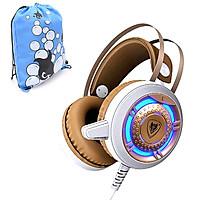Tai Nghe Chụp Tai Chơi Game Nubwo N1 Gaming Headsets (Nâu) + tặng kèm Balo thời trang cá tính - Hàng Chính Hãng