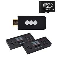 Máy chơi game 4 nút mini HDMI dùng cho TV Aturos RS-53 với 821 game tích hợp 2 tay cầm di động không dây - Hàng nhập khẩu
