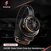 Tai nghe chụp tai âm thanh bas rõ nét giắc 3.5mm với micro 1MORE Triple Driver Over Ear Headphones H1707