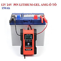 Sạc Bình Ắc quy 12V 24V 150AH FOXSUR Sạc Pin lithium Có Chức Năng Khử Sunfat Sạc Ắc quy ô tô Xe Máy 5.0