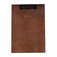 Bìa kẹp menu gỗ đẹp NHATVYWOOD A4-NVB6345, bảng gỗ menu nhà hàng quán cafe