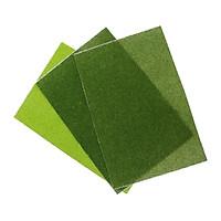 3 Miếng Nhựa Dẻo Mô Phỏng Nhân Tạo Cỏ Thảm Sân Cỏ Bãi Cỏ Mô Hình Bố Trí Phần 30X20 cm