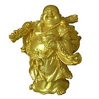 Tượng đá phật Di Lặc gánh bao tiền cầm vàng DLDV14