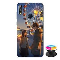 Ốp lưng điện thoại Asus Zenfone Max Pro M2 hình Tình Yêu Lãng Mạn tặng kèm giá đỡ điện thoại iCase xinh xắn - Hàng chính hãng