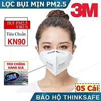 Khẩu trang 3M 9001 - Khẩu trang 3D Mask chống bụi mịn, phòng độc, chống giọt bắn