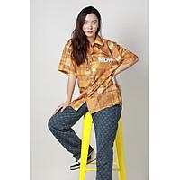 Áo Sơ Mi Unisex Hoạ Tiết Tay Ngắn Cổ Vest Thời Trang Vải Lụa Local Brand Mi Midori