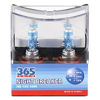 Bộ 2 Bóng Đèn Ô Tô 365-Auto H8 Night Breaker (35W) - Xanh