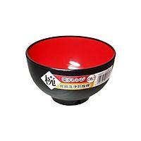 Bát nhựa ăn cơm Nakaya 420ml - Màu đen lòng đỏ - Made in Japan