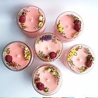 Combo 10 Nến thơm tinh dầu Sả 100g, giúp thư giãn, thơm phòng, khử mùi, Essential Oil Candle