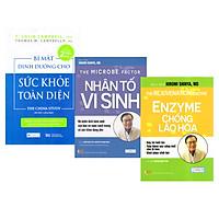 Combo 3 Cuốn Sách Dinh Dưỡng Hay: Bí Mật Dinh Dưỡng Cho Sức Khỏe Toàn Diện + Nhân Tố Vi Sinh + Enzyme Chống Lão Hóa