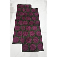 Bộ 2 thảm bếp chống trượt cao cấp kích thước 0.45mx1.2m- Màu nâu họa tiết tím bi - CONDOR