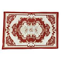 Thảm lau chân cao cấp họa tiết Tân cổ điển 40cm * 60 cm (Màu Đỏ)