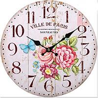 Đồng hồ treo tường Vintage Phong cách Châu Âu size to 30cm DH22 Hoa và bướm