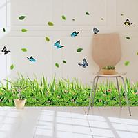 Decal trang trí chân tường khu vườn hoa bướm cho bé XL7180
