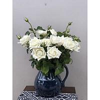 bình phệ cắm hoa men xanh hỏa biến
