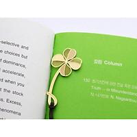 Bookmark kim loại đánh dấu trang sách hình cỏ 4 lá