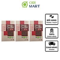 Combo 3 Gạo Hữu Cơ Ecoba Huyết Rồng - Ecoba Organic Red Rice 1kg