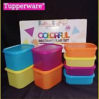 Bộ Hộp Trữ Mát Colorful Rectangular Tupperware Set 8 Hộp
