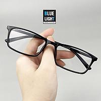 Kính Giả Cận, Gọng Kính Cận Nam Nữ Mắt Vuông Classic Nhựa Bóng Đen Không Độ Hàn Quốc _ BLUE LIGHT SHOP
