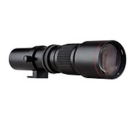 Andoer Camera Super Telephoto Lens 500mm F/8.0-32 Manual Zoom Multi-Coated T-Mount Camera Lens with 1/4 Inch Thread