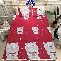 Bộ ga giường poly cotton LIDACO drap giường đủ size nệm 1m2, 1m4, 1m6, 1m8 (Tặng 01 vỏ gối ôm)