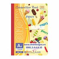 Sổ may dán gáy A4 - 120 trang; Klong 971 bìa cam
