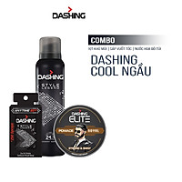 Combo Dashing Essensial: Xịt khử mùi Style Legend 125ml & Nước hoa bỏ túi Style Legend 18ml & Sáp vuốt tóc Dashing Royal 75g