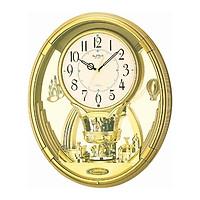 Đồng hồ treo tường RHYTHM Magic Motion 4MH736WD18 -Vỏ màu vàng, Kích thước 34.5 x 41.0 x 8.7cm