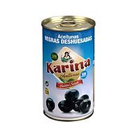 Trái oliu Karina đen tách hạt Pitted Black olives 350