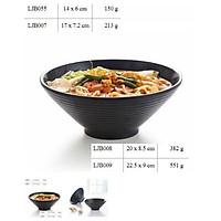Tô bát mì bún phở cơm size 14cm, 16cm màu đen phong cách Hàn Quốc