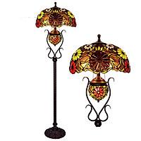 Đèn cây cao cấp kiểu dáng Tiffany hoa đỏ