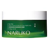 Mặt Nạ Ngủ Kiềm Dầu, Kiểm Soát Mụn Naruko Trà Tràm Ea Tree Shine Control Blemish Clear Night Gelly (80g)