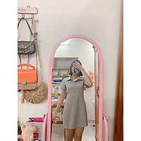 Đầm thun ôm body nữ SANMAY Váy Polo suông cotton 4 chiều sang chảnh, đi chơi, đi biển, thiết kế 3 màu xám đen hồng VD035