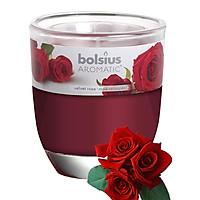 Ly nến thơm tinh dầu Bolsius Velvet Rose 105g QT024342 - hoa hồng nhung