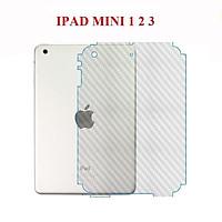 Miếng dán vân Carbon mặt lưng cho Ipad Mini 1/2/3