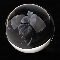 Clear  Glass Crystal Ball Decorative Sphere Photography Props Art Gift