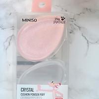 2 mút tán kem nền, phấn nước, kem che khuyết điểm bằng silicone Nhật Bản MINISO PINK PANTHER CRYSTAL CUSHION POWDER PUFF - MNS024