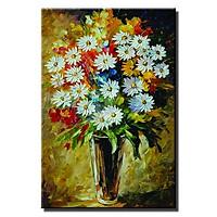 Tranh in vải đóa hoa trắng LCV40-183