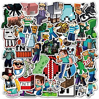 Sticker 50 miếng hình dán Minecraft