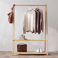 Giá treo quần áo gỗ thông - Giao màu ngẫu nhiên