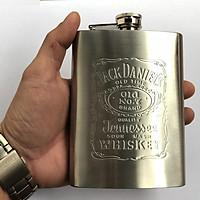 Bình đựng rượu mini Inox 8oz Jack Daniels(240ml)