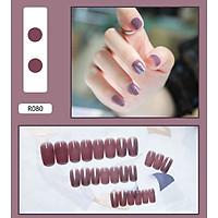 Bộ 24 móng tay giả nail thơi trang như hình (R-080)