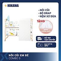 NÔI CŨI, GIƯỜNG CŨI CAO CẤP ĐA NĂNG CHO BÉ HAKAWA HK-B03 (COMBO 3) - HÀNG CHÍNH HÃNG