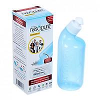 Bộ dụng cụ rửa mũi xoang NASOPURE (gồm Bình xịt 8oz ~ 240ml và 4 gói muối x 3.75g) (Made in USA)
