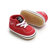 Giày boot nhí màu đỏ cao cấp, cho bé 0-18 tháng