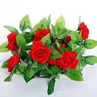 Combo 2 dây hoa hồng leo giả - Dây hoa leo trang trí tường , hoa hồng trang trí tiệc cưới , chùm hoa treo tường trang trí quán cà phê , shop thời trang , nhà hàng , khách sạn