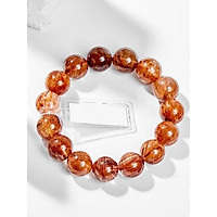 Vòng Tay Phong Thủy Nam Đá Thạch Anh Tóc Đỏ (11mm) Mệnh Hỏa, Thổ Ngọc Quý Gemstones