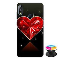 Ốp lưng điện thoại Asus Zenfone Max Pro M2 hình Trái Tin Đỏ tặng kèm giá đỡ điện thoại iCase xinh xắn - Hàng chính hãng